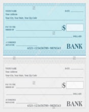 Payment Voucher Bank Cheque Vector Template