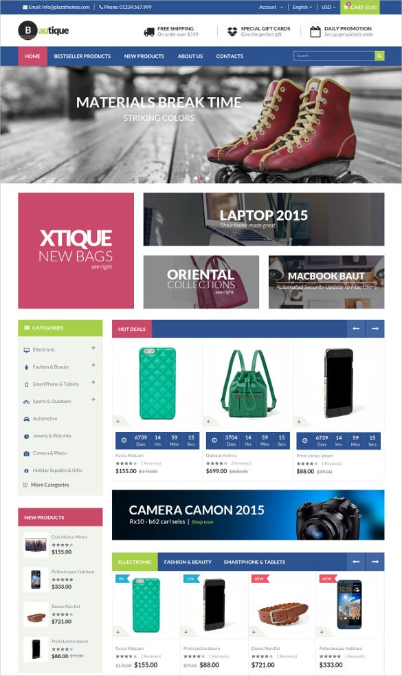 static mega shop responsive magento website theme