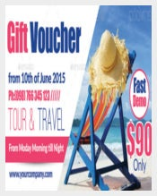 Tour Travel Gift Voucher Template Download