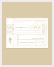 Voucher in Ticket Design Template
