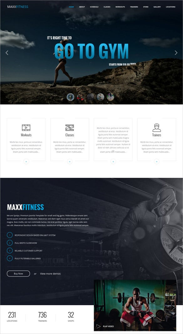 static responsive html website template