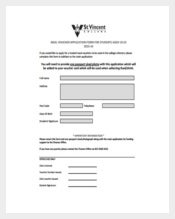 Meal Voucher Application Form Free PDF Template