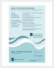 Meal Voucher Program Template