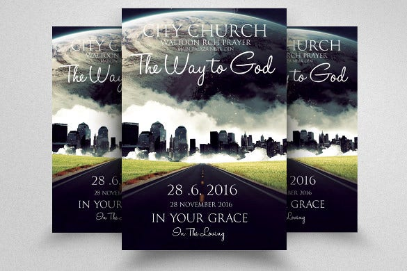 Church flyers 46 free psd ai vector eps format for Religious flyers template free