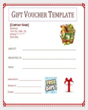 Free Gift Blank Voucher Template
