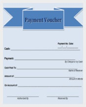 Free Payment Blank Voucher Template