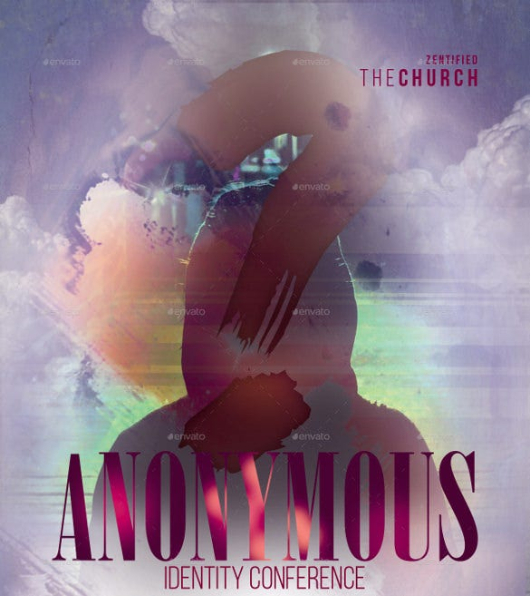 anonymous church flyer