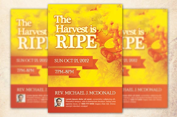 harvest is ripe church flyer