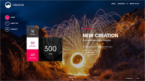 creative static website template