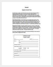 Sample Expense Voucher Form Free PDF Template
