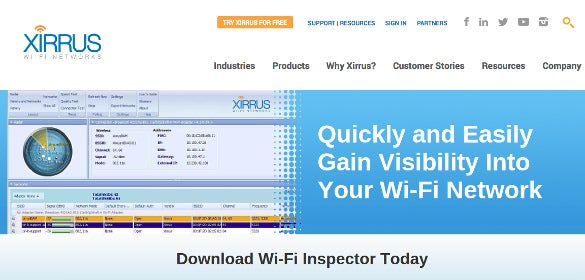 xirrus wi fi network analyzer tool