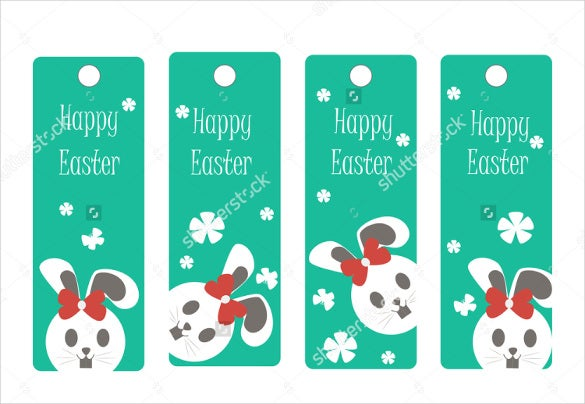 happy easter christian bookmark template