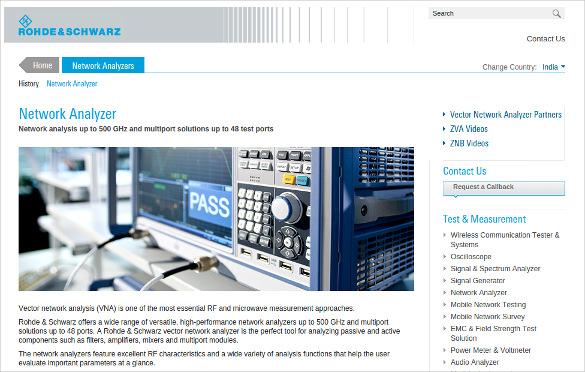 rohde schwarz network analyzer tool