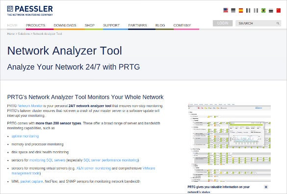 paessler network analyzer tool download