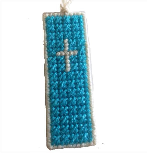 plastic canvas cross christian bookmark with tassel