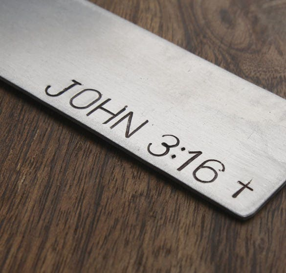 ready to use christian bookmark template