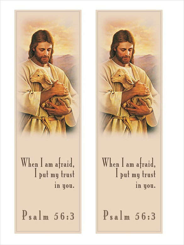 attractive christian bookmark template