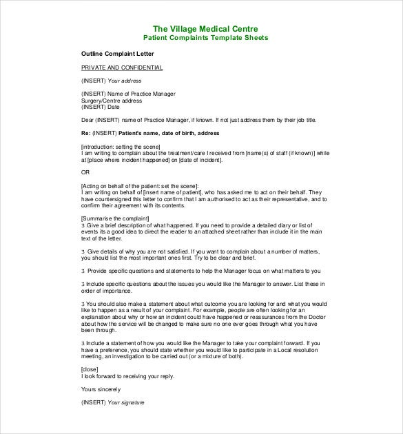 medical complaint letter pdf - Procurement Specialist Cover Letter