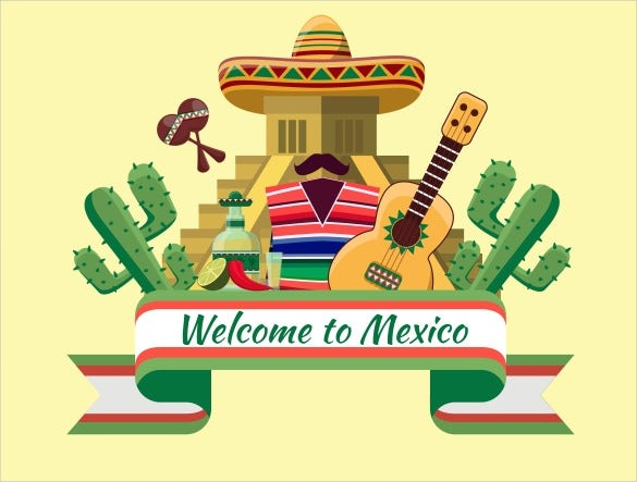 mexican welcome banner sample template