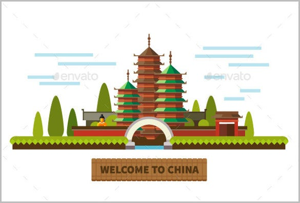 chinese sample welcome banner template