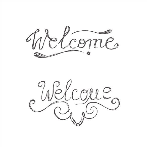 sketch welcome sample banner template
