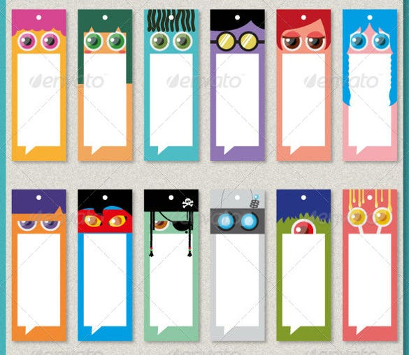 Bookmark design template 31 free psd ai vector eps for Double sided bookmark template