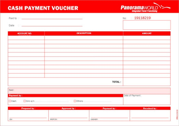 Payment Voucher Templates Free PDF Excel Format Download – Sample Payment Voucher Template