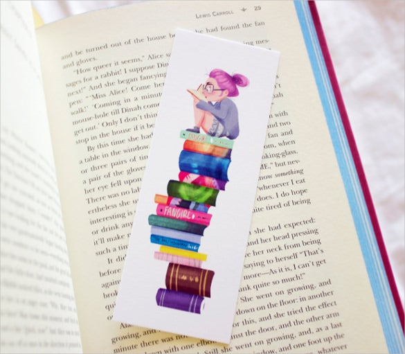 bookworm bookmark design template