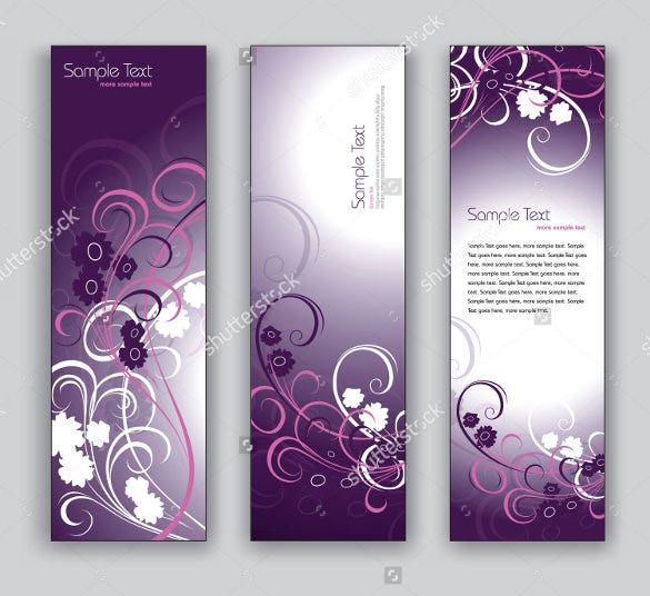 vector bavkground bookmark template design