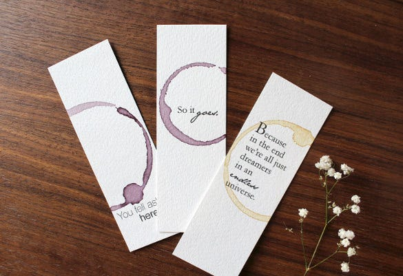 professional bookmark design template