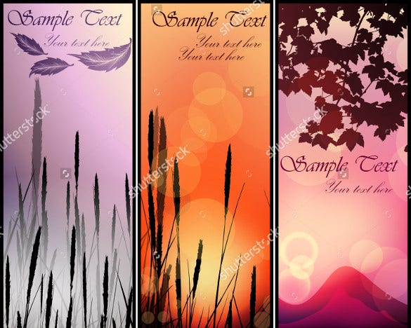 bookmark template design with sunset theme