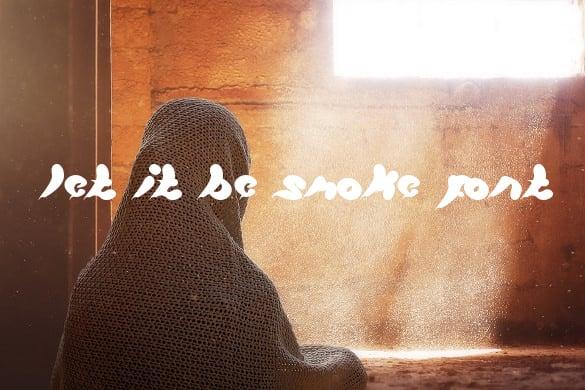 let it be smoke font free download