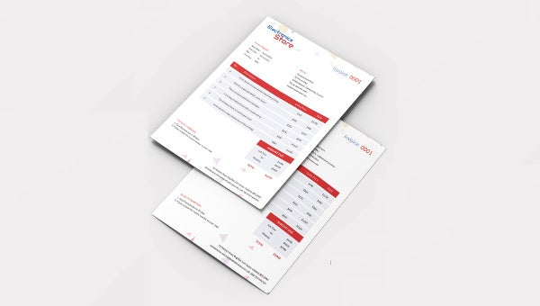 electricalstore_invoice template