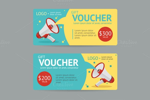 gift voucher vector sample template download