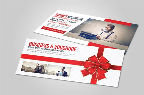 business gift card voucher example template download