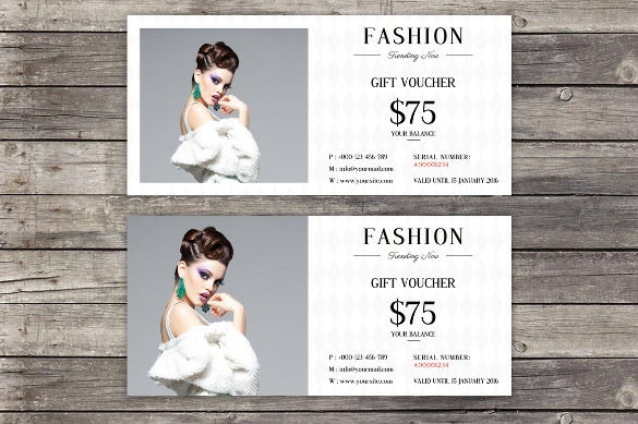 fashion gift voucher template example download