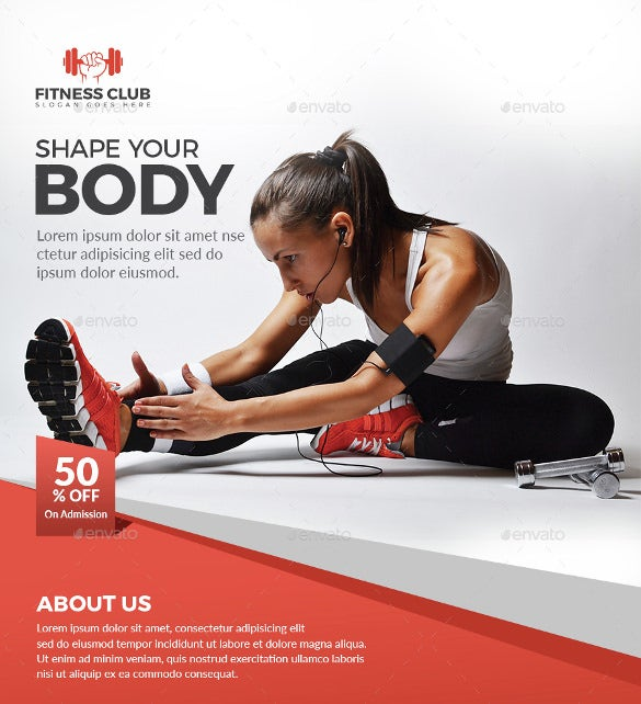 Free Fitness Flyer Templates  BesikEightyCo