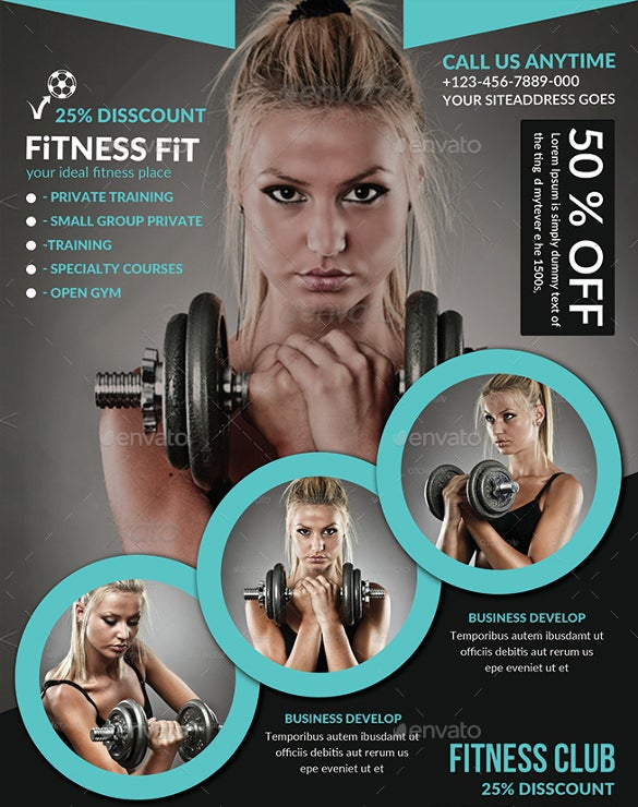 fitness flyer gym flyer template