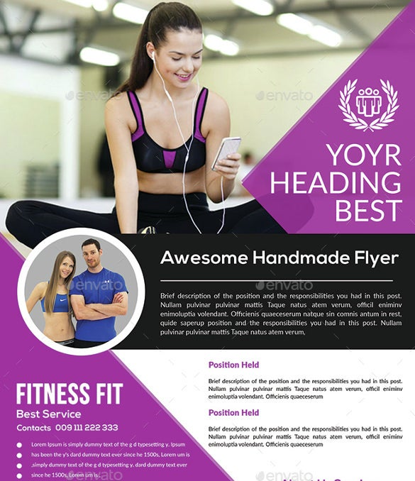 fitness flyer psd 6