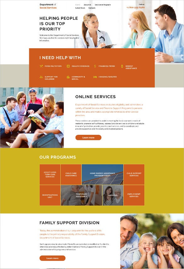 social services foundation website template