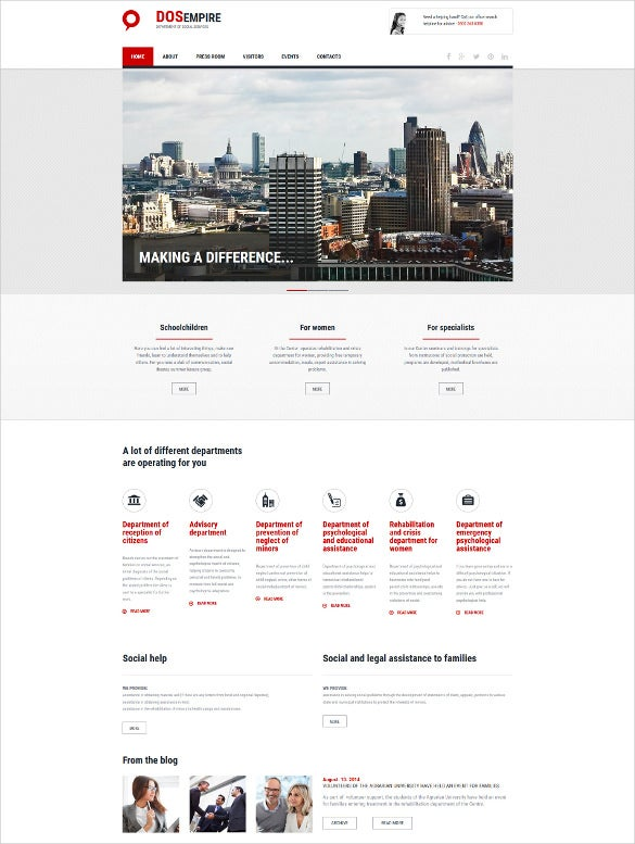 social foundation responsive template