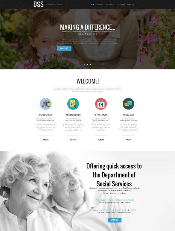 social foundation moto cms html template