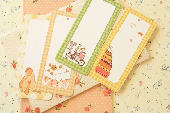 cute cartoon theme blank bookmark templates