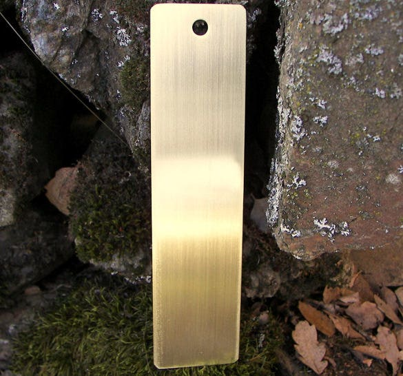 attractive blank brass bookmark template