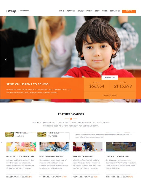 charity foundation html template