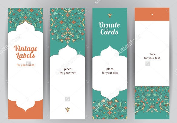 Blank Bookmark Template. Fancy Bookmark Templates To Print Ornament ...