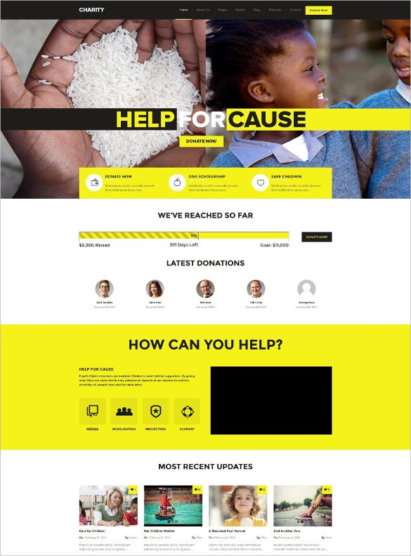 charity wordpress foundation theme