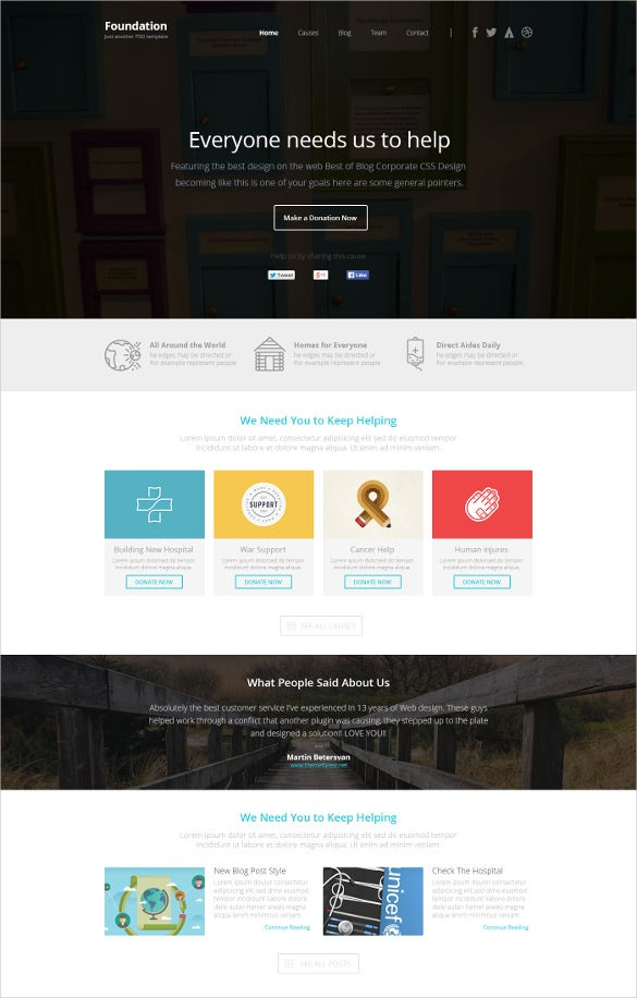 foundation multipurpose html5 template