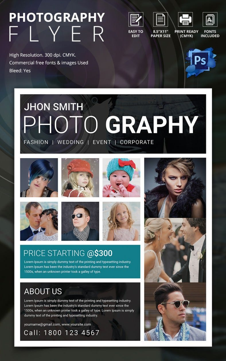 photography flyer psd format excellent photography flyer template