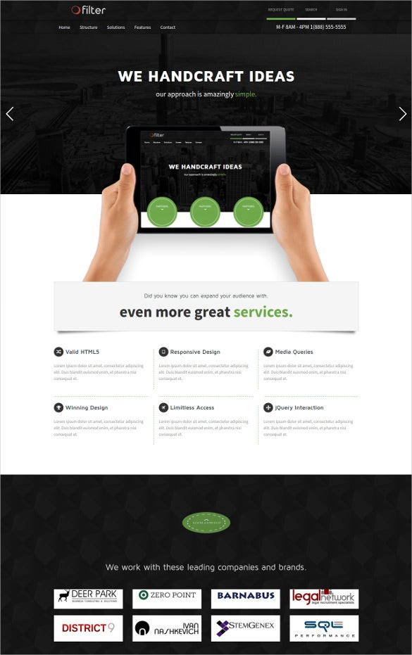 responsive foundation html5 template